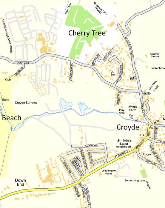 Cherry Tree Campsite Croyde Map
